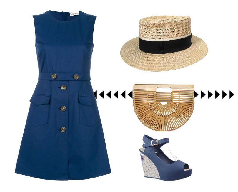 Jakie buty do niebieskiej sukienki?