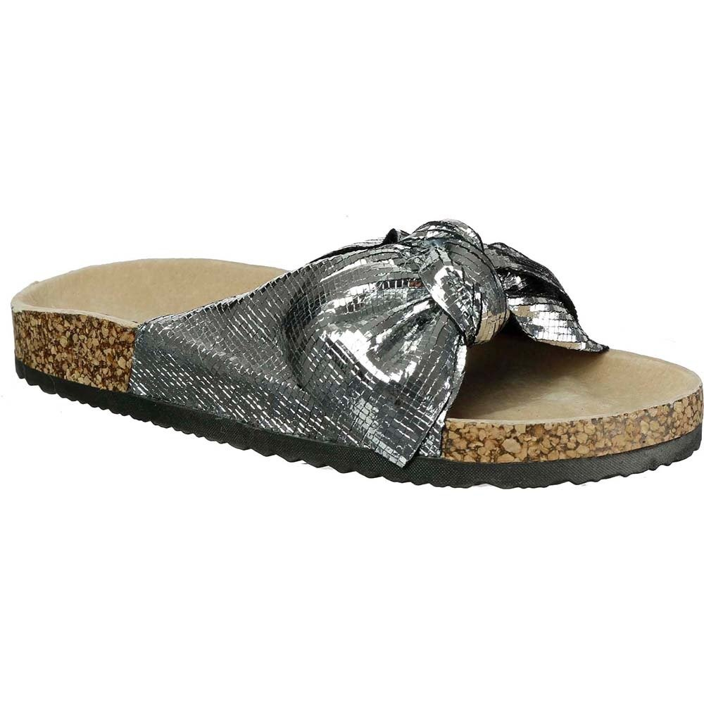 Klapki srebrne glitter 20SD21-2410