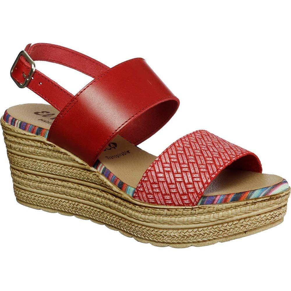 Sandały czerwone hiszpańskie El Pimpi